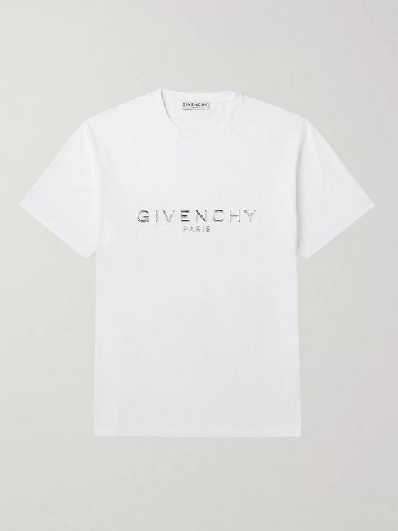 Givenchy Logo-Embellished Cotton-Jersey T-Shirt