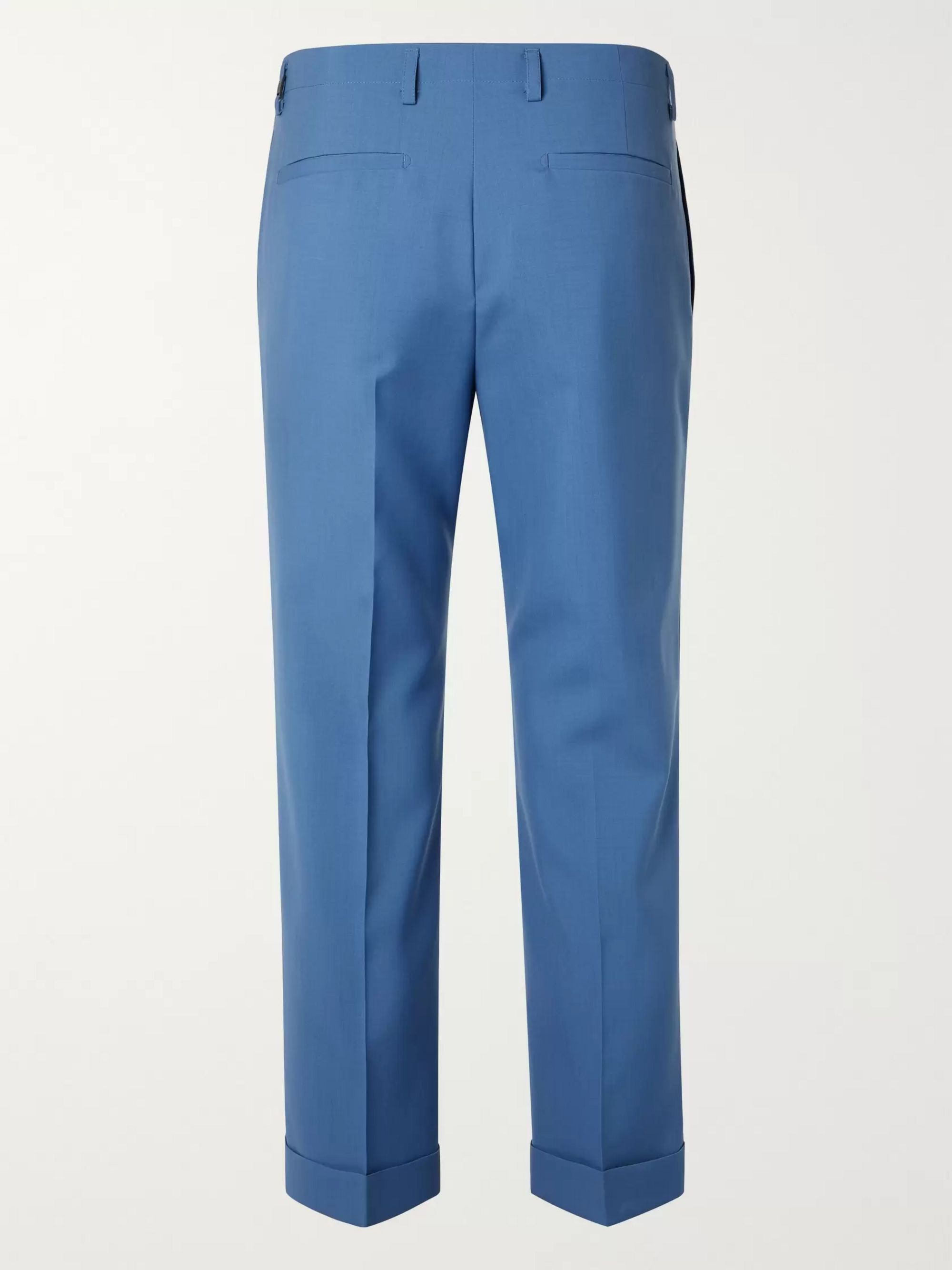 Givenchy Cropped Pleated Wool Suit Trousers