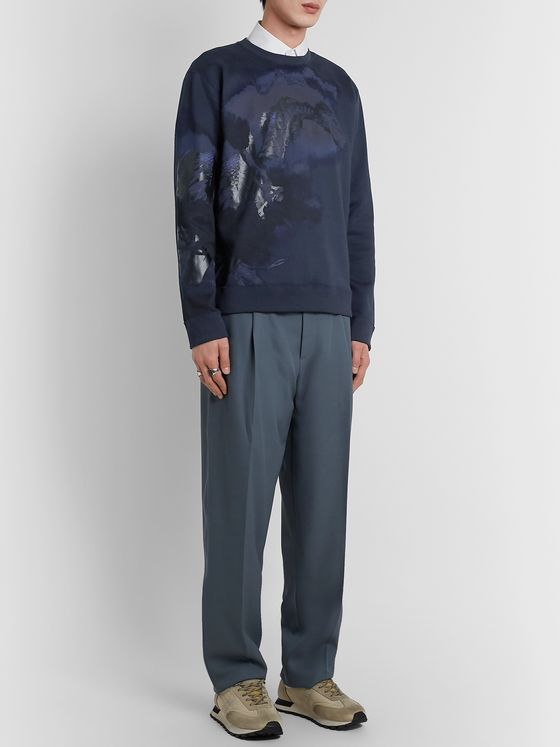 Valentino Printed Loopback Cotton-Blend Jersey Sweatshirt