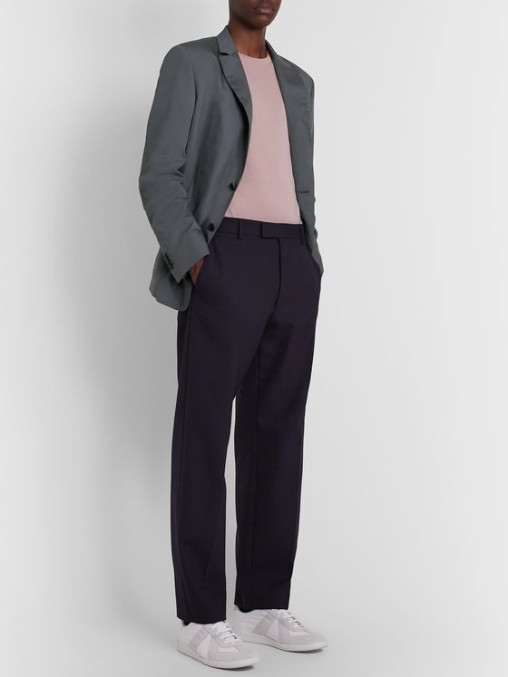 VALENTINO Unstructured Cotton and Silk-Blend Blazer