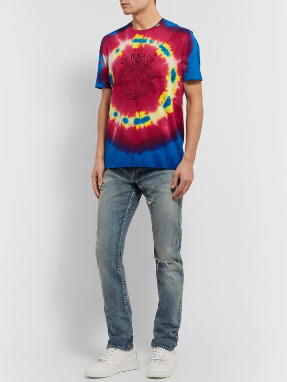 Versace Slim-Fit Tie-Dyed Cotton-Jersey T-Shirt