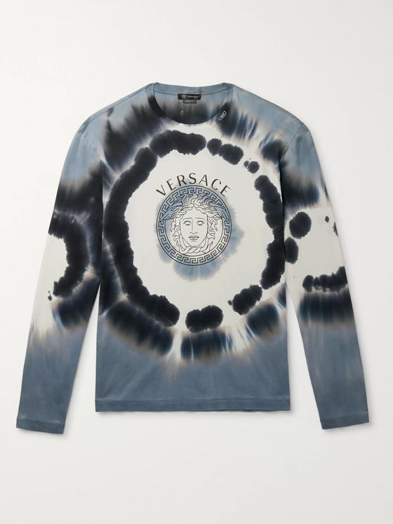 Versace Logo-Print Tie-Dyed Cotton-Jersey T-Shirt