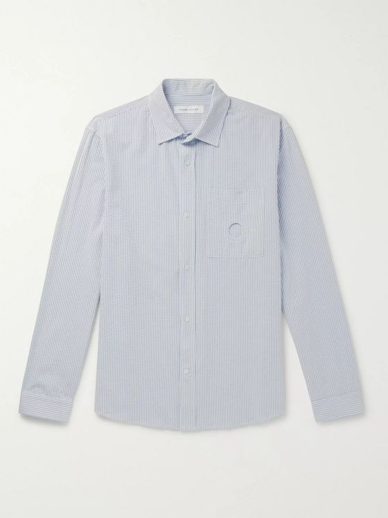 Craig Green Uniform Striped Cotton-Seersucker Shirt