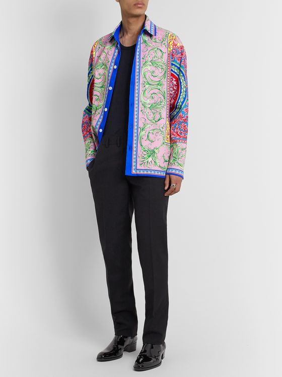 Versace Printed Denim Shirt