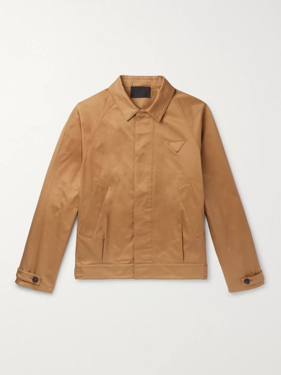 Prada Cotton-Gabardine Blouson Jacket