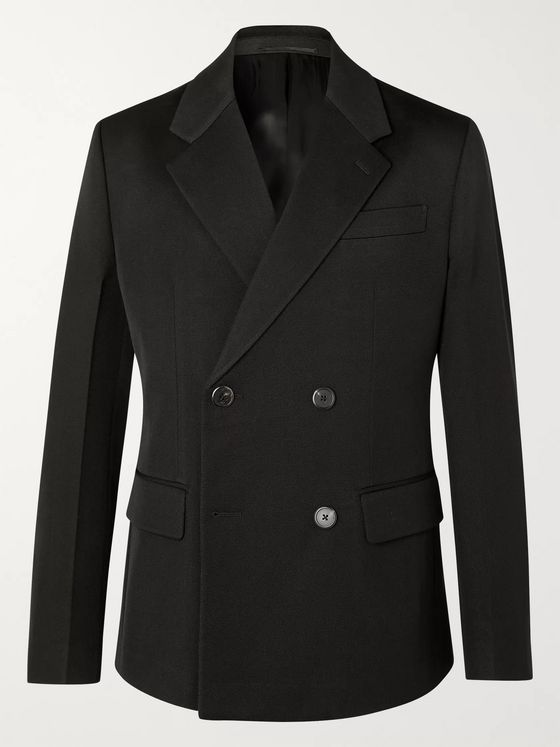 Prada Double-Breasted Virgin Wool-Gabardine Blazer