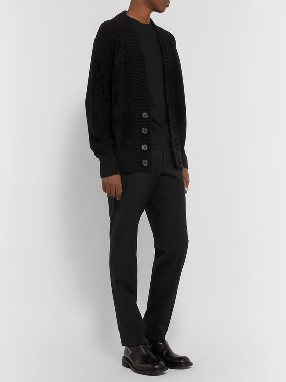 Prada Ribbed Cotton Cardigan