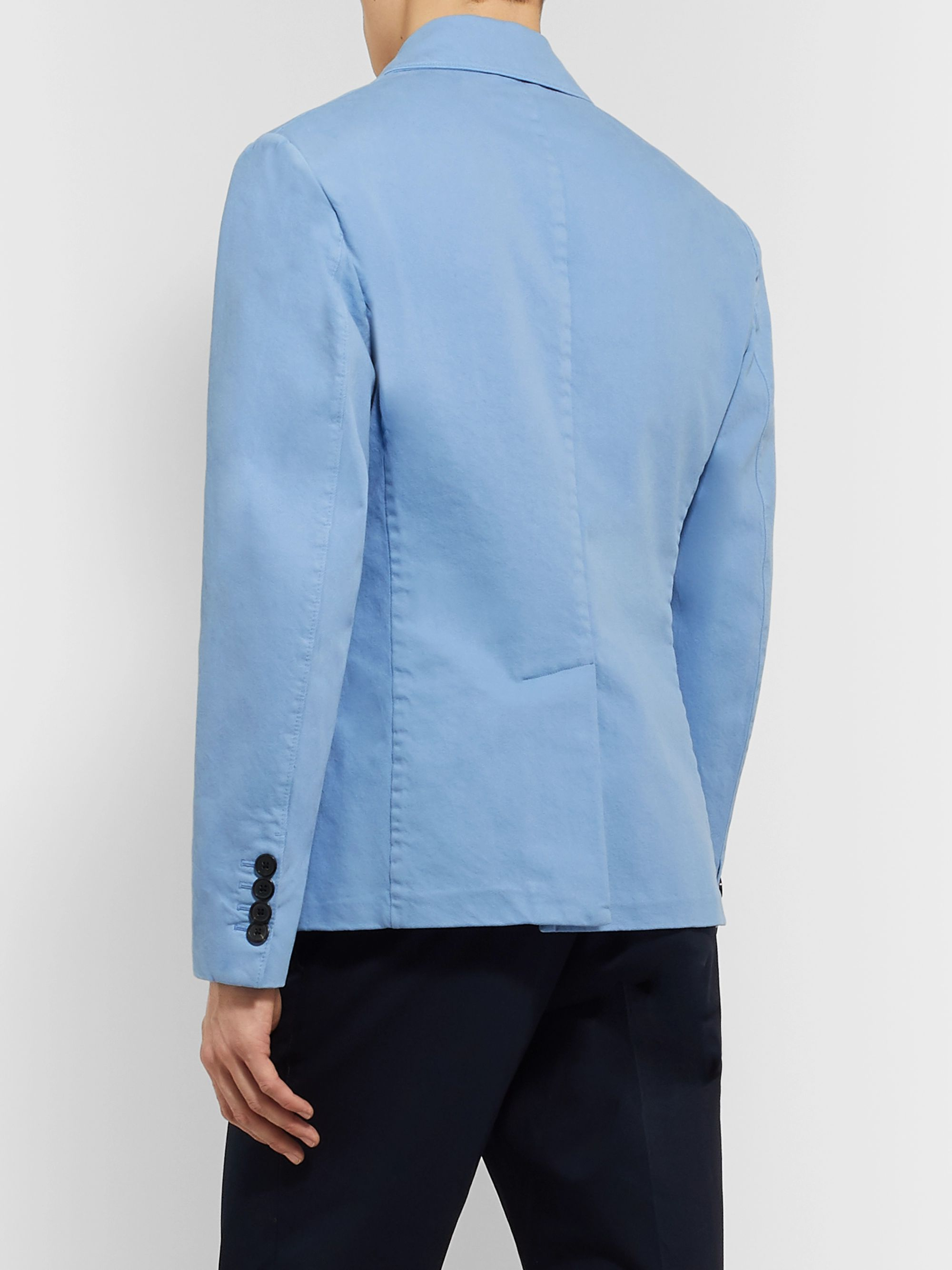 Prada Double-Breasted Cotton-Corduroy Blazer