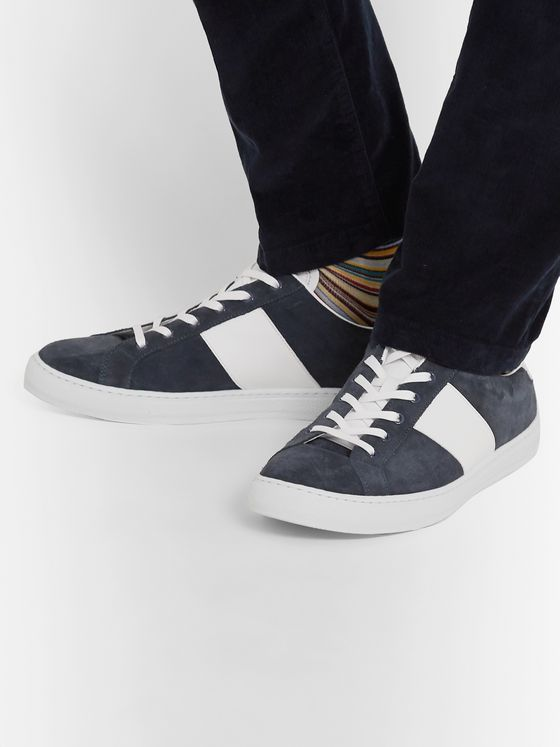 Paul Smith Hansen Leather-Trimmed Suede Sneakers