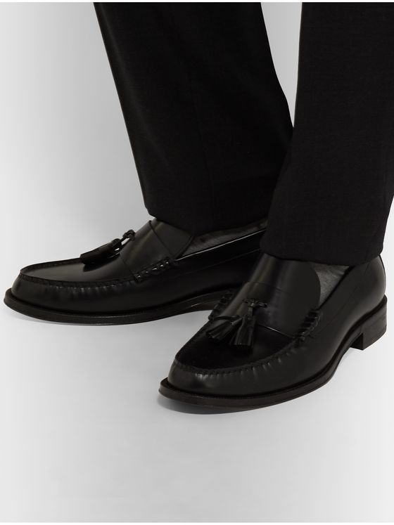 Paul Smith Lewin Polished-Leather Tasselled Loafers