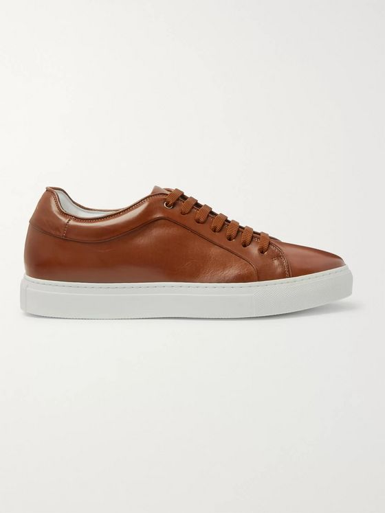 Paul Smith Basso Burnished-Leather Sneakers