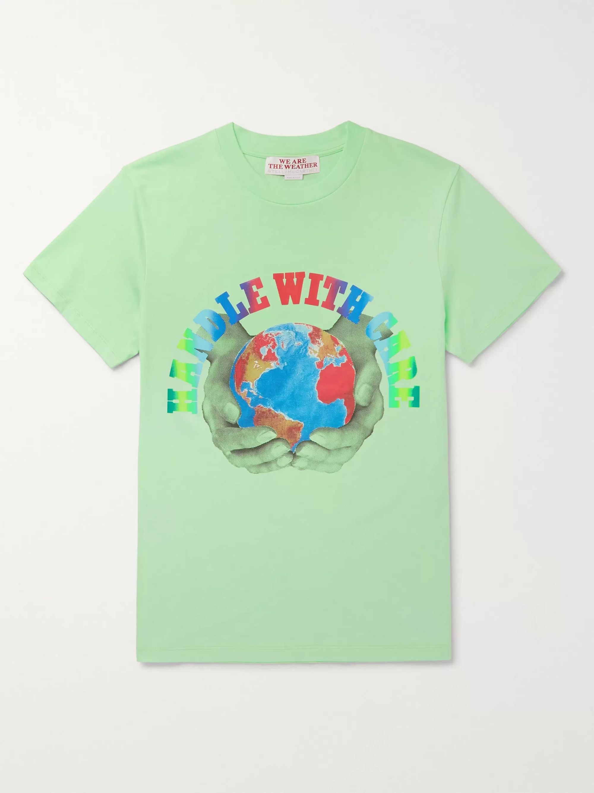 Stella McCartney Slim-Fit Printed Organic Cotton-Jersey T-Shirt