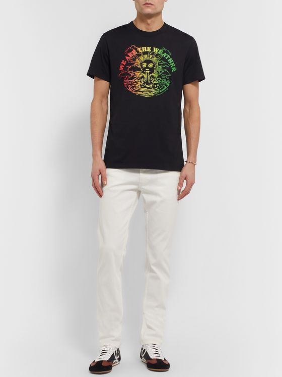 Stella McCartney Slim-Fit Printed Organic Cotton-Jersey T-Shirt