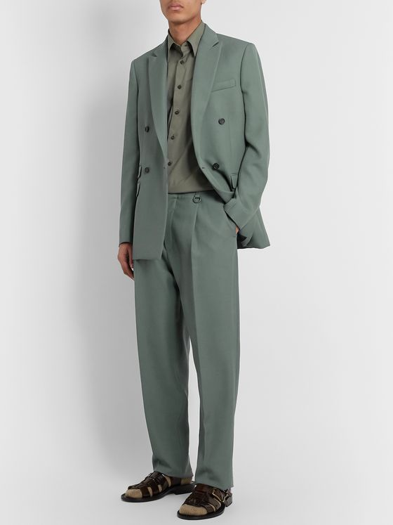 Stella McCartney Pleated Wool Suit Trousers