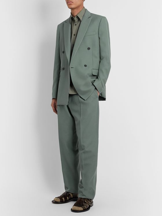 Stella McCartney Double-Breasted Wool Suit Jacket