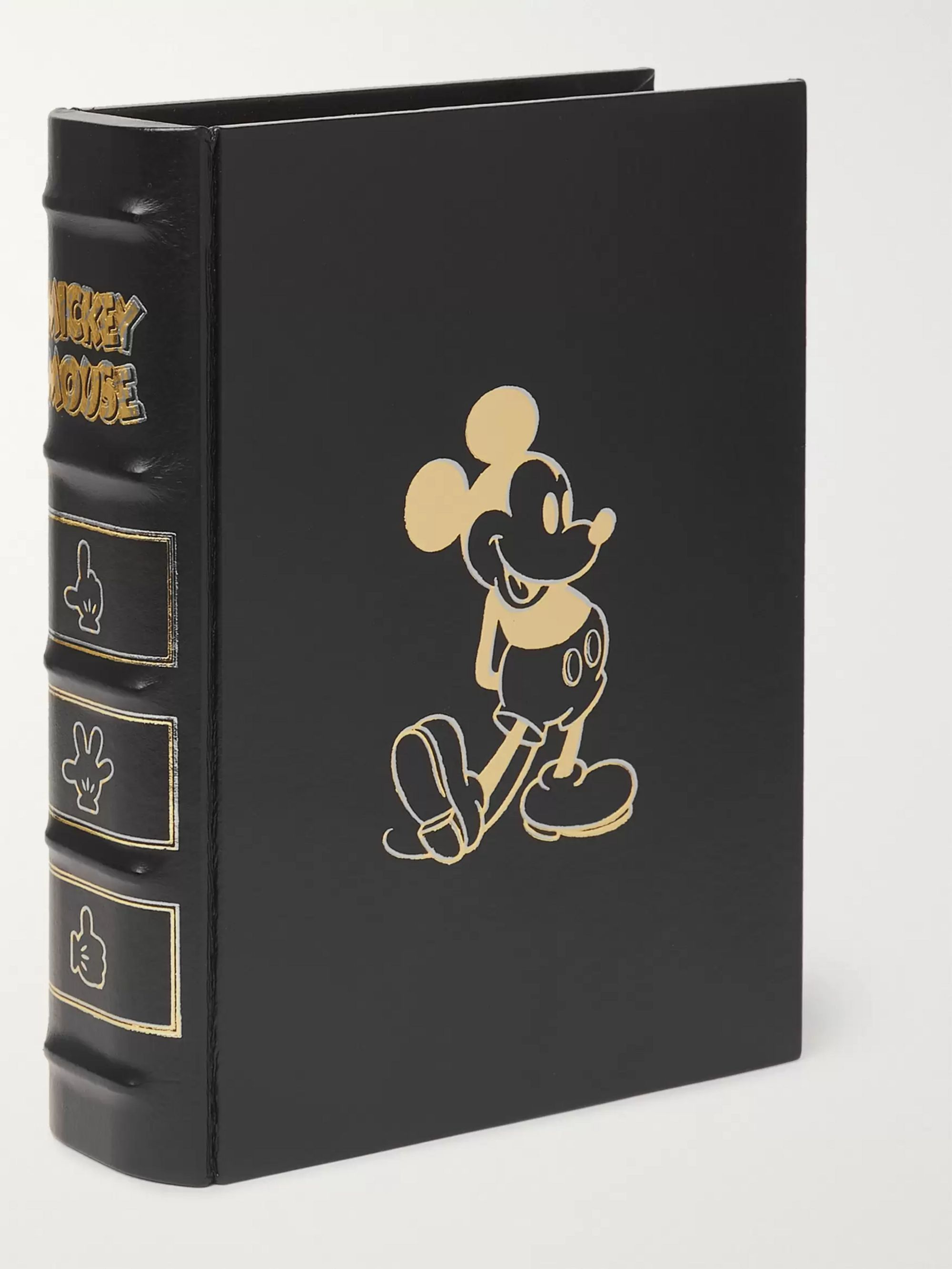 TAKAHIROMIYASHITA TheSoloist. + Mickey Mouse Foiled Leather and Gold-Tone Pouch
