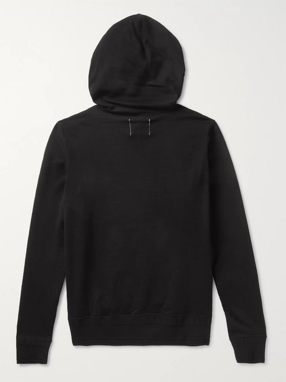 TAKAHIROMIYASHITA TheSoloist. Pleated Ripstop-Panelled Cotton and Silk-Blend Hoodie