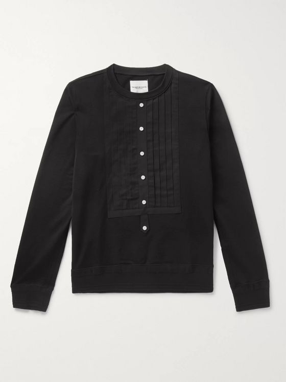 TAKAHIROMIYASHITA TheSoloist. Pleated Ripstop-Panelled Cotton and Silk-Blend Sweatshirt