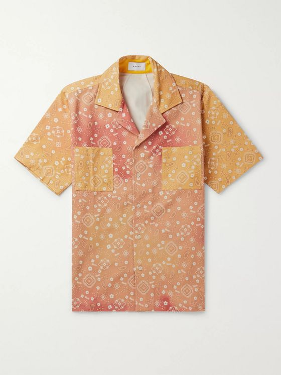 Rhude Camp-Collar Bandana-Print Cotton-Twill Shirt