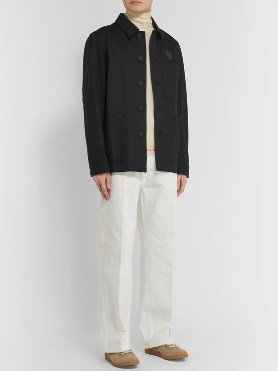 Loewe Eye/LOEWE/Nature Logo-Embroidered Cotton-Twill Overshirt