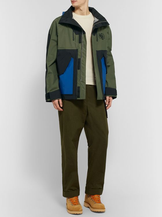 Loewe Eye/LOEWE/Nature Colour-Block Shell Hooded Parka