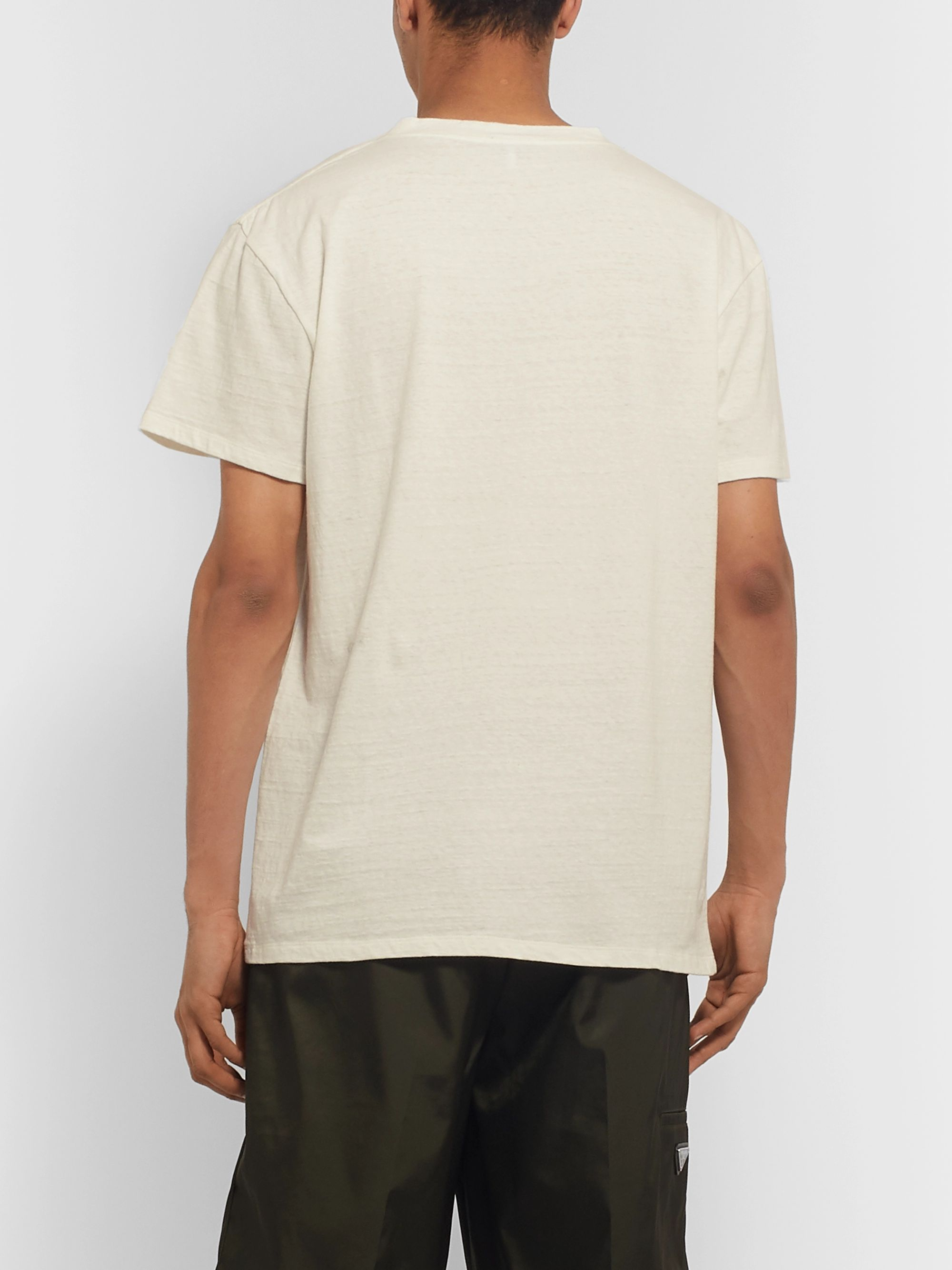 Loewe Eye/LOEWE/Nature Printed Slub Cotton-Jersey T-Shirt