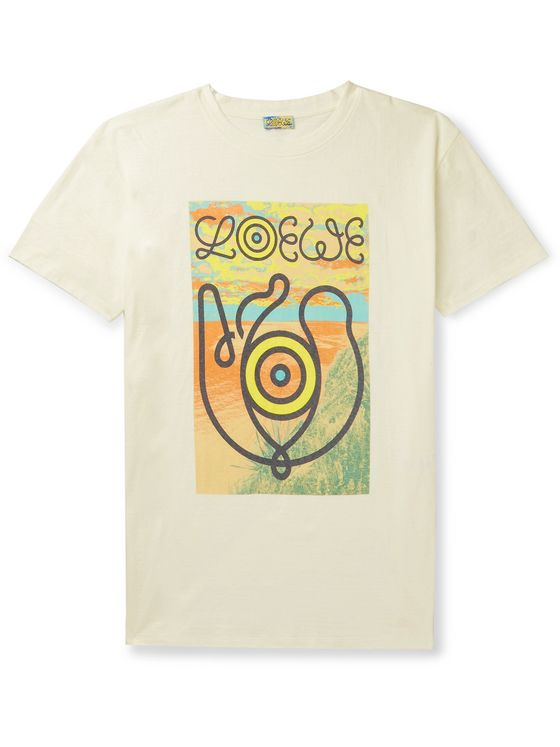 Loewe Eye/LOEWE/Nature Logo-Print Cotton-Jersey T-Shirt