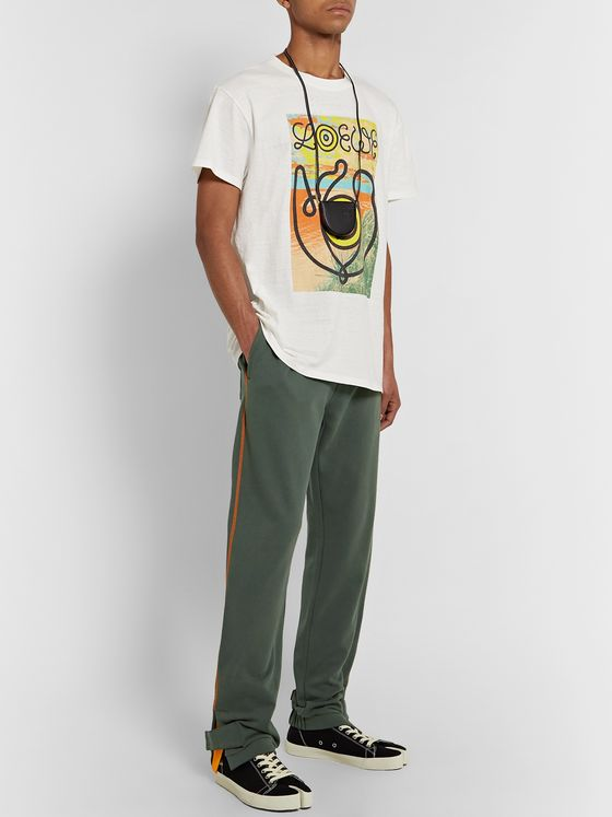 Loewe Eye/LOEWE/Nature Fleece-Back Cotton-Jersey Sweatpants