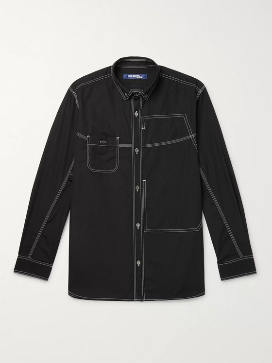 Junya Watanabe + magCulture Button-Down Collar Printed Cotton-Poplin Shirt