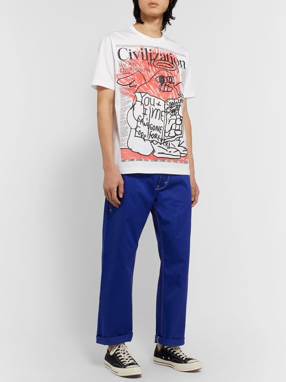 Junya Watanabe Cotton-Blend Twill Trousers