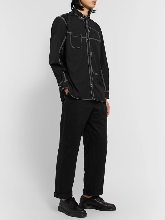 Junya Watanabe Pleated Cotton-Gabardine Trousers