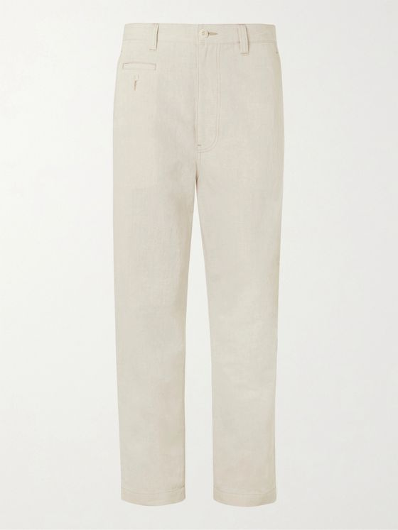 Junya Watanabe Tapered Cotton and Linen-Blend Canvas Trousers