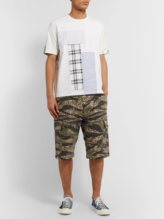 Junya Watanabe Camouflage-Print Cotton-Canvas Cargo Shorts
