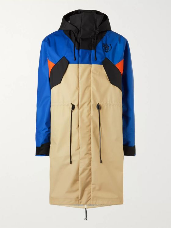 Loewe Eye/LOEWE/Nature Fleece-Lined Colour-Block Nylon Parka