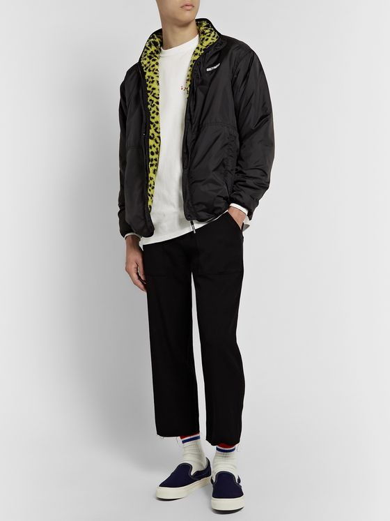 Wacko Maria Reversible Leopard-Print Fleece and Ripstop Jacket
