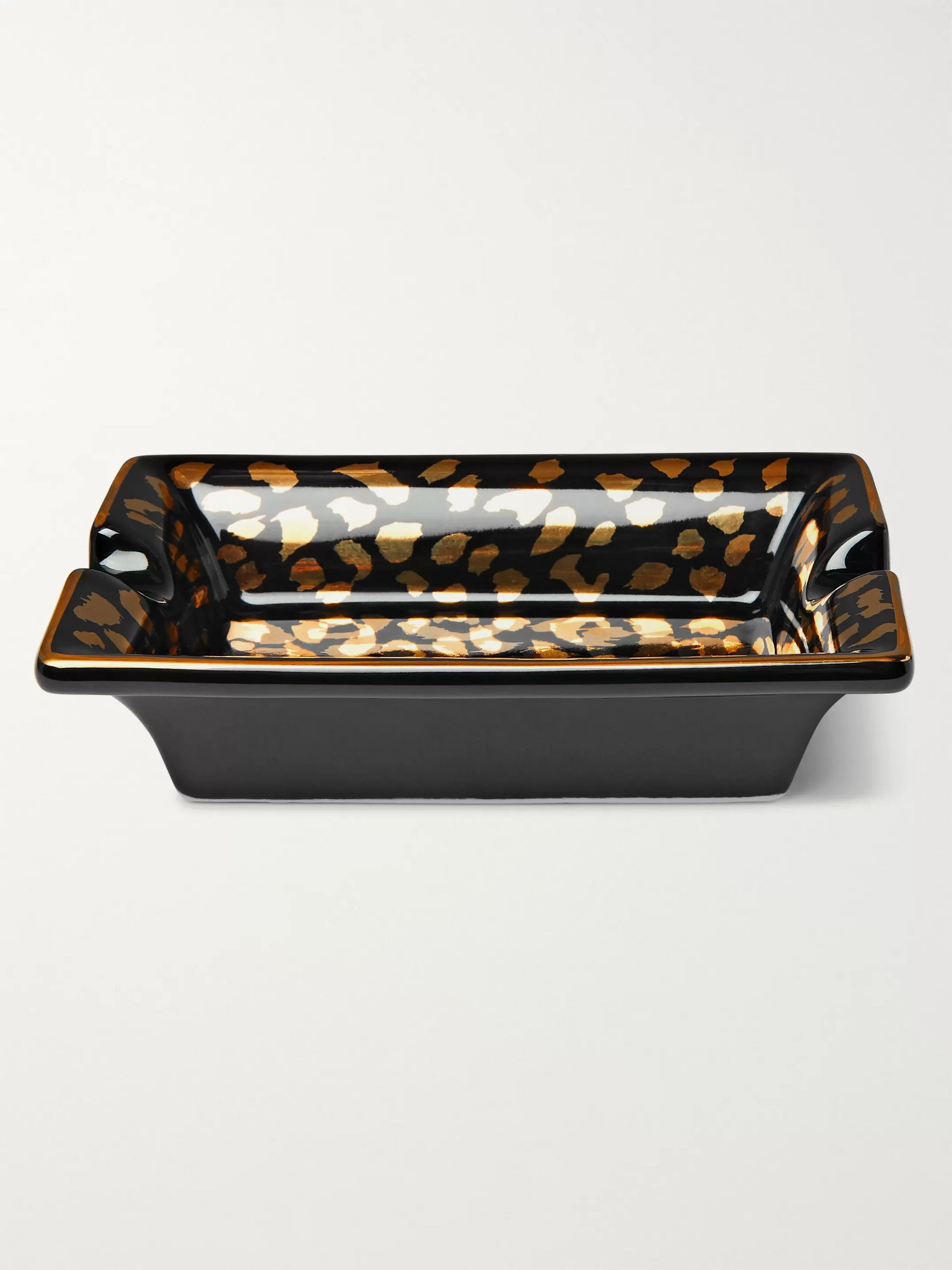 Wacko Maria Leopard-Print Ceramic Ashtray
