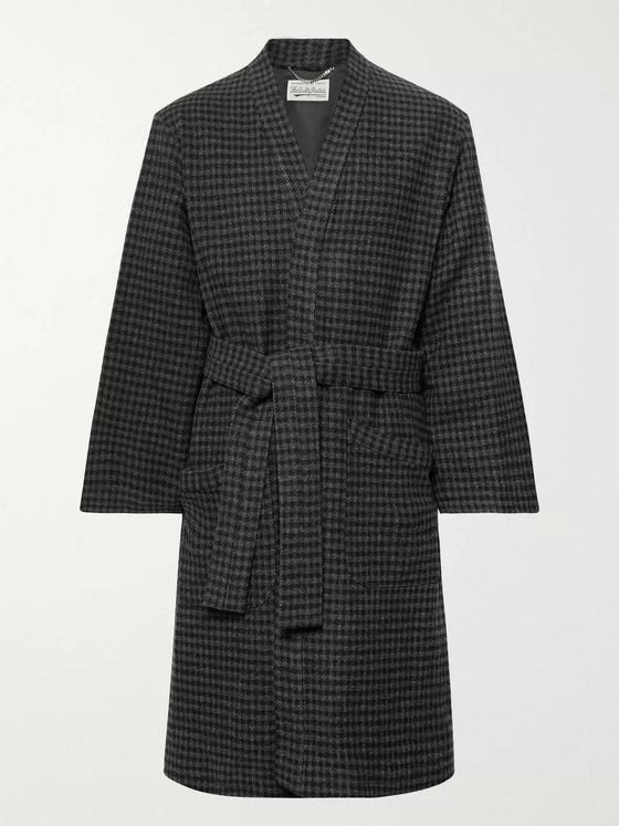 Wacko Maria Checked Wool-Blend Coat