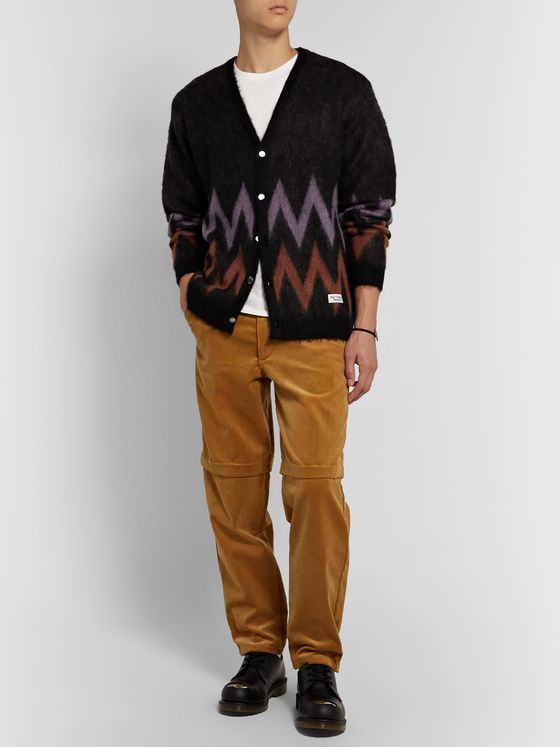 Wacko Maria Brushed Jacquard-Knit Cardigan