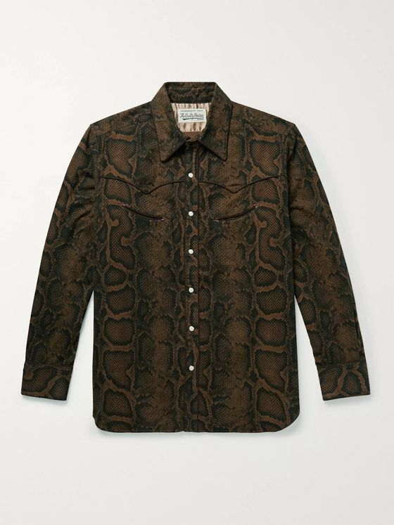Wacko Maria Printed Cotton Western Shirt