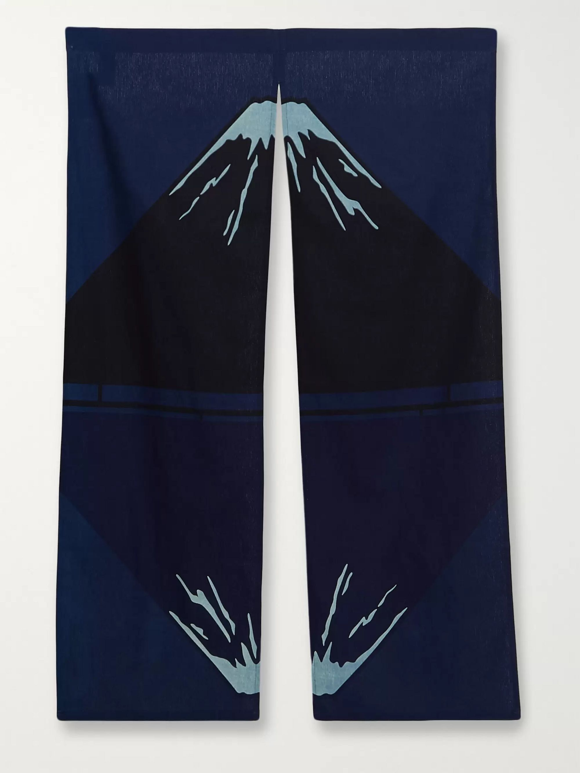 Blue Blue Japan Indigo-Dyed Cotton Curtain