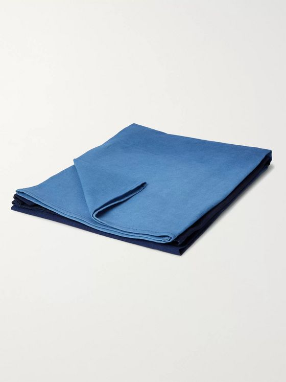 Blue Blue Japan Dégradé Indigo-Dyed Cotton Blanket