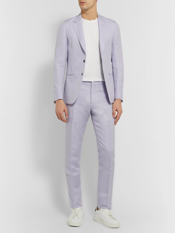 Paul Smith Soho Slim-Fit Cotton and Silk-Blend Suit Trousers