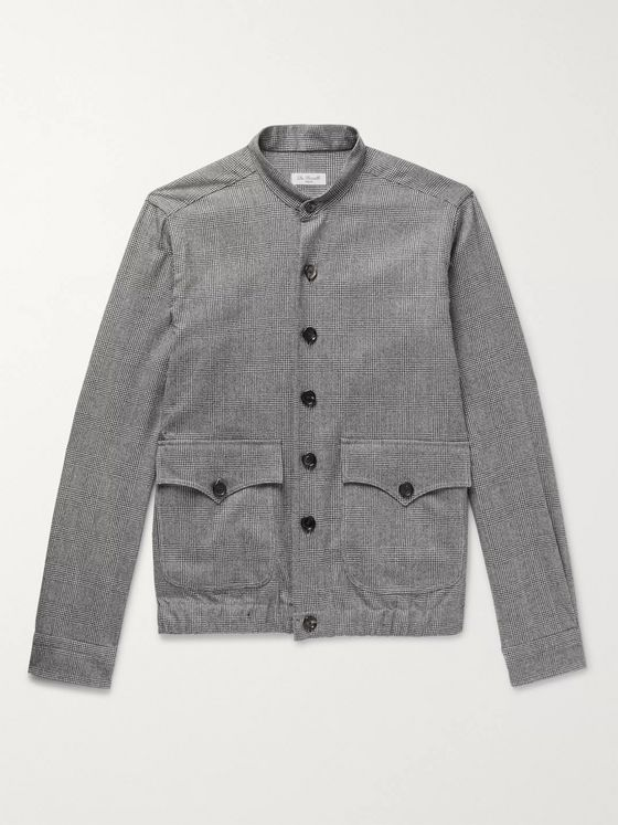De Petrillo Slim-Fit Prince of Wales Puppytooth Virgin Wool Bomber Jacket