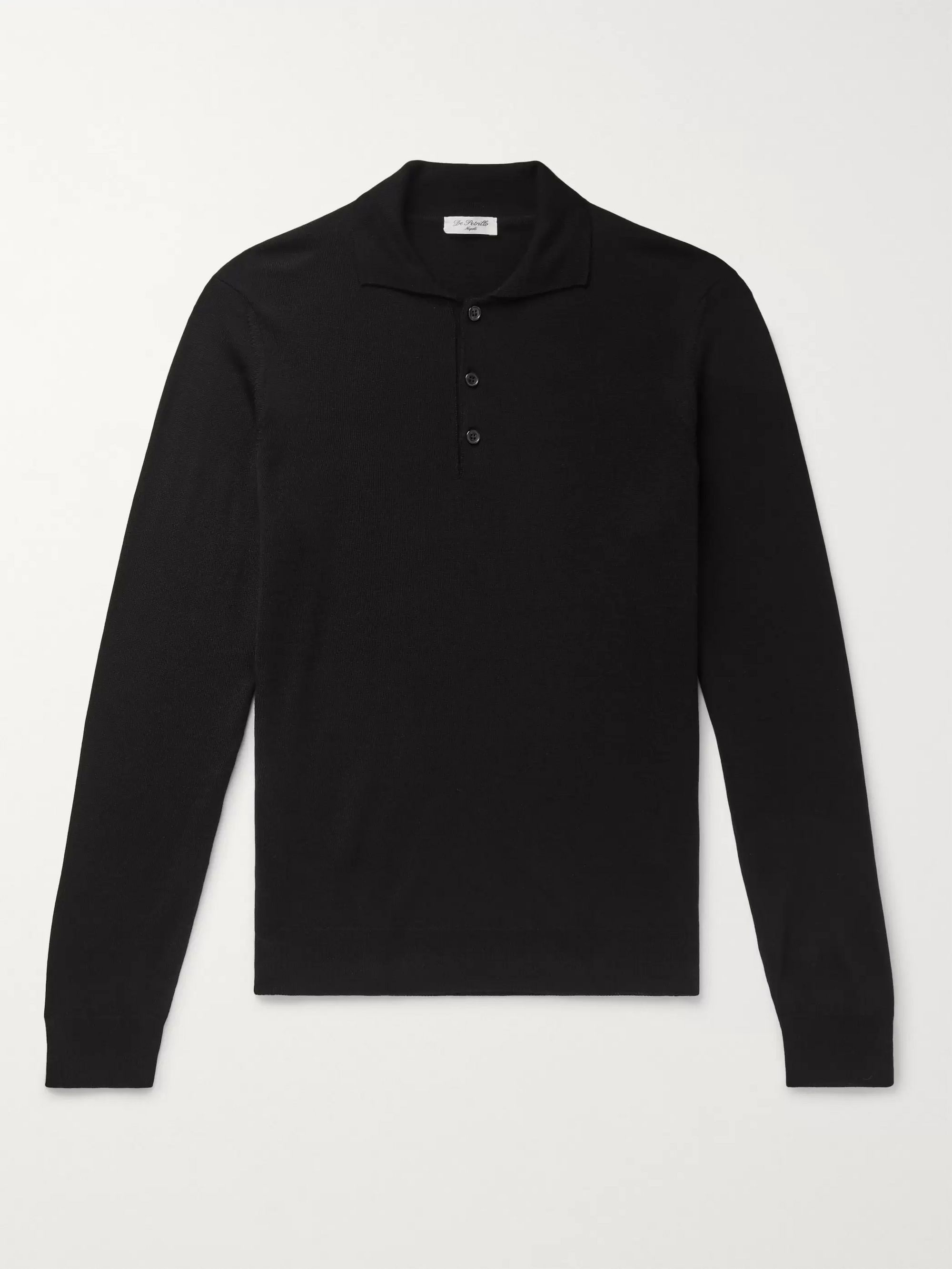 De Petrillo Merino Wool Polo Shirt
