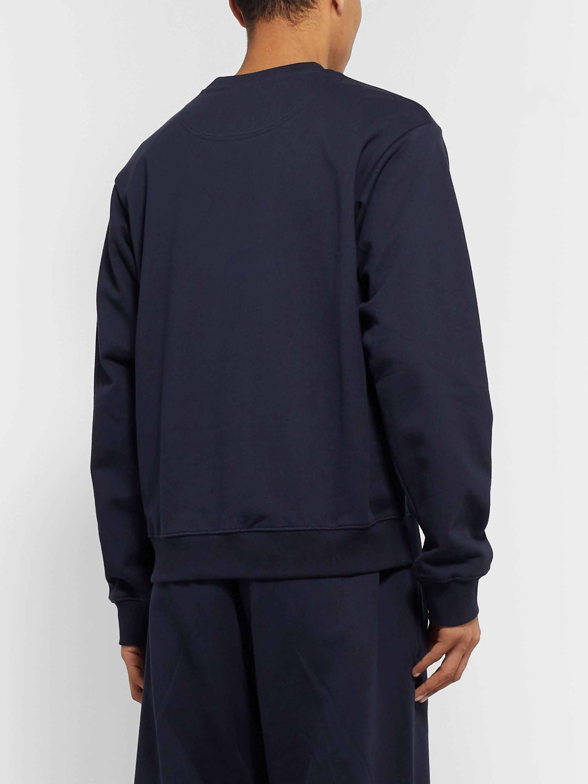 Martine Rose Logo-Embroidered Loopback Cotton-Jersey Sweatshirt