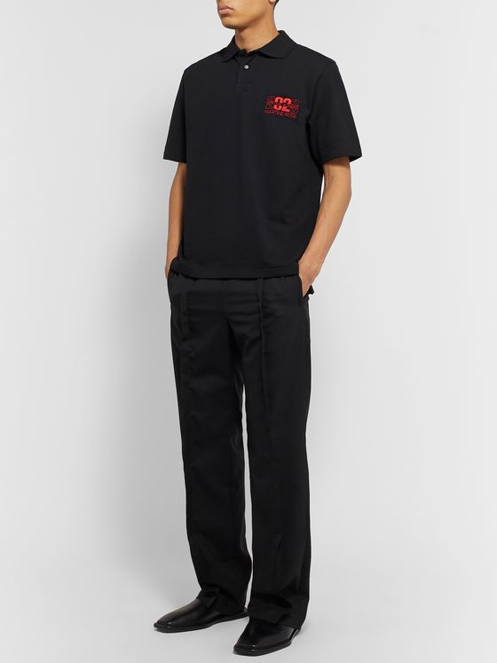 Martine Rose Logo-Embroidered Cotton-Piqué Polo Shirt