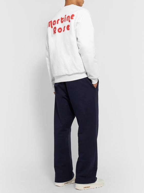 Martine Rose Reversible Printed Cotton-Jersey Sweatshirt