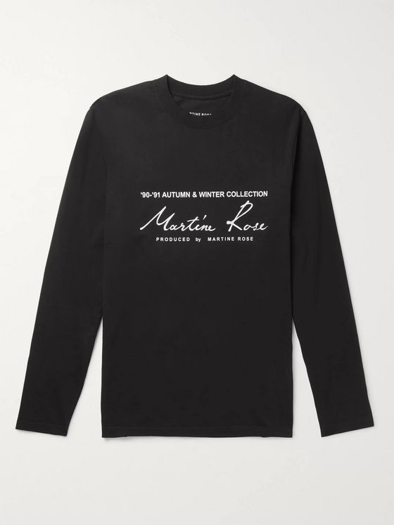 Martine Rose Logo-Print Cotton-Jersey T-Shirt
