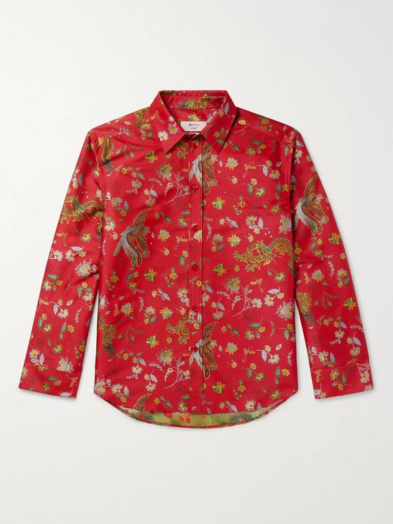 Martine Rose Chaplin Satin-Jacquard Shirt
