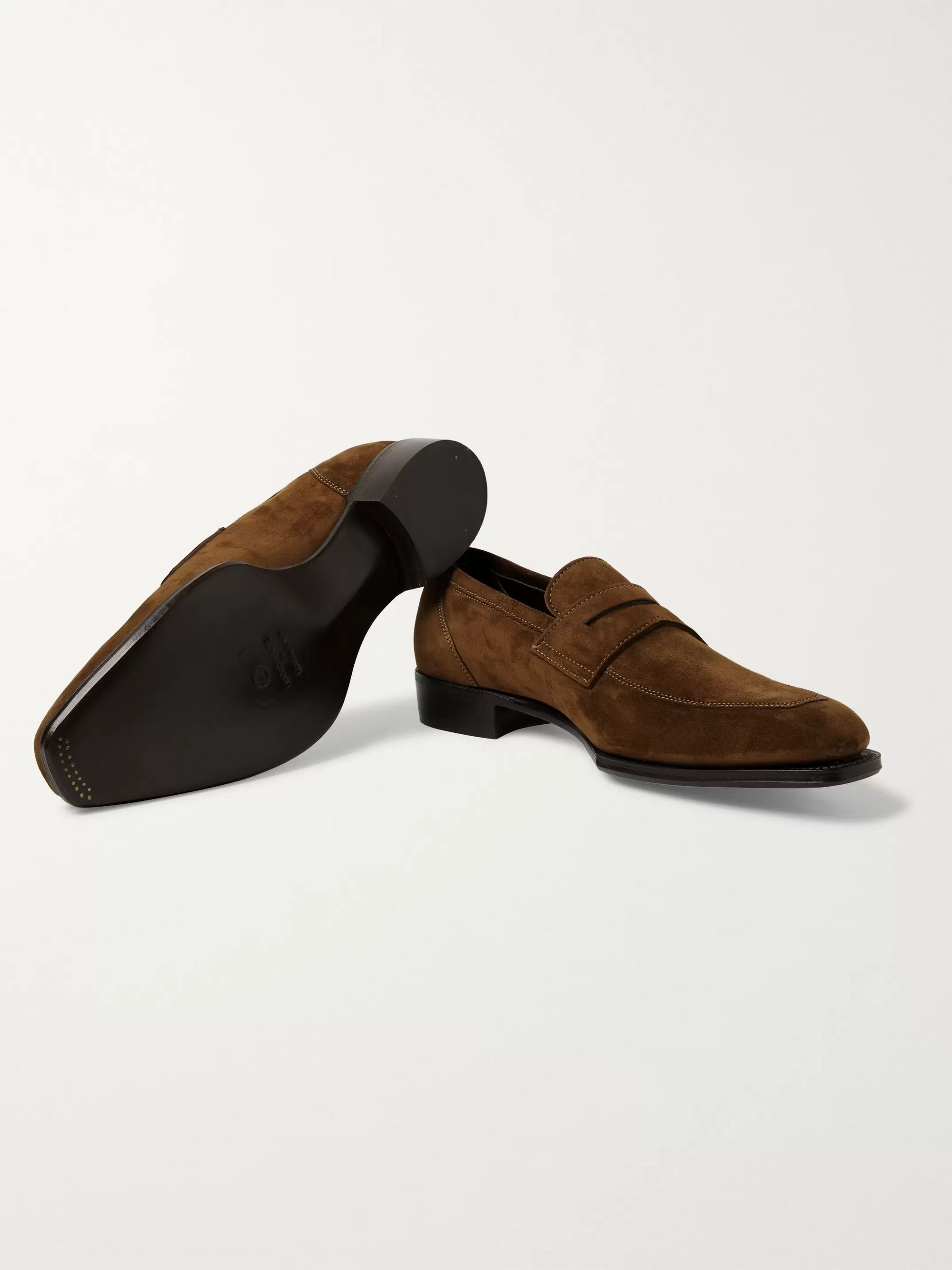 Kingsman + George Cleverley Newport Full-Grain Leather Penny Loafers